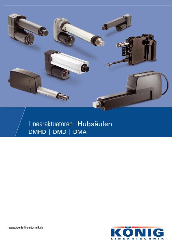Informations Flyer Hubsäulen DMD, DMA, DMHD